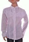 Блузка белая для девочек оптом 202-1