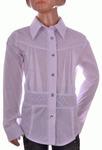 Блузка белая для девочек оптом 560-5