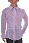 Блузка белая для девочек оптом 560-4