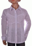Блузка белая для девочек оптом 560-3
