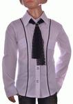 Блузка белая для девочек оптом 560-2