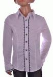 Блузка белая для девочек оптом 560-1