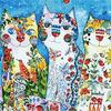 """РН GХ4884 """"Три цветных кошки"""", 40х50 см Артикул827-575"""