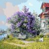 """РН GХ4953 """"Сиреневое дерево у домика"""", 40х50 см Артикул827-589"""