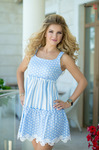 Платье голубое 7685