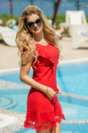 Платье красное 7687