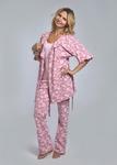 """Комплект с халатом """"Мишель"""": брюки + халат (розовый)"""
