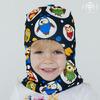 Зимняя шапка-шлем без помпона, совы (Акция только на размер 42-46)