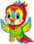 Плакат поздравит. фигурный Ф-8066 Попугай