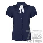 СКИДКА 35% 123-1 Блузка для девочки с коротким рукавом, размер 140-164