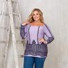 MT890Lavander_geo, блуза  размер 54-60