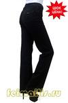 От бедра прямые черные джинсы (44-56) размер