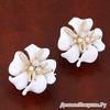 """Серьги """"Белый цветок"""""""
