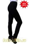 Зауженные черные джинсы (48-60) размер