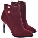 Женские замшевые ботинки на каблуке (байка/экомех/цигейка - на выбор)