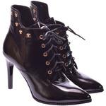 Женские лаковые ботинки на каблуке (байка/экомех/цигейка - на выбор)