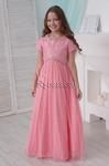 """Платье нарядное для девочки """"Сицилия"""", цвет розовый персик"""