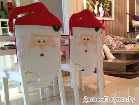Чехол на стул новогодний (44х74 см)