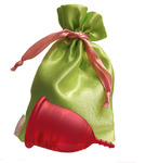 """Lilacup красная (размеры S, L) в мешочке - серия """"Атлас Премиум"""" (цвет мешочка в ассортименте)"""