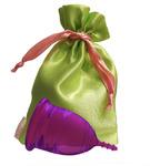 """Lilacup фиолетовая (размеры S, L) в мешочке - серия """"Атлас Премиум"""" (цвет мешочка в ассортименте)"""