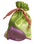 """Lilacup сиреневая (размеры S, L) в мешочке - серия """"Атлас Премиум"""" (цвет мешочка в ассортименте)"""
