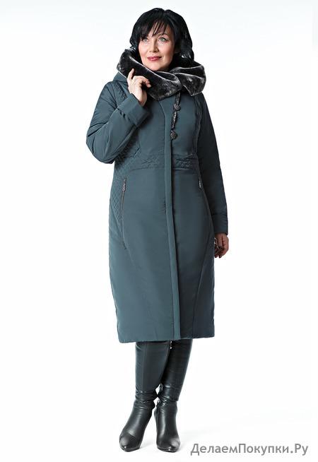 """Пальто """"Белинда"""" р-р 48-64 цвета бежевый,графитовый,черный,серо-фиолетовый"""