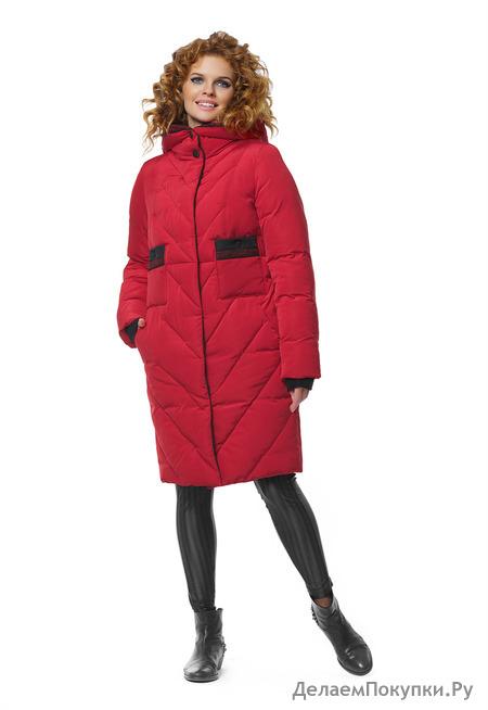 """Пальто """"Дуэт"""" р-р 42-64 цвета серо-голубой,красный,серый,какао"""