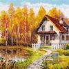 Набор для вышивания 3-14 В гости к осени (Россия) 21х17 см