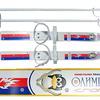 """Лыжи детские """"Олимпик-спорт""""66/75 см, крепление мягкое пластиковое, с палками (в коробке)"""