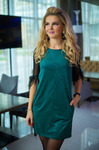 Платье зелёное 7729