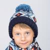Комплект, шапка вязаная с флисовой подкладкой и шарфом