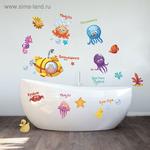 """Наклейки декоративные для ванной """"Морские жители"""", 50 х 70 см"""
