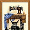 """Набор для вышивания арт.СС-0857 """"Швейная машинка"""" 18х24 см"""