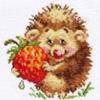 """Набор для вышивания арт.Алиса - 051 """"Ежик с клубникой"""" 11х12 см"""