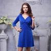 Платье с люрексом цвет электрик синий