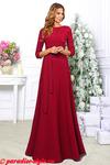 Платье бордо кружево асимметрия длинное