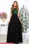 Платье блестящий верх изумруд