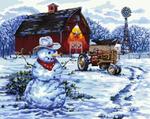Снеговик за городом