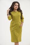 Платье 825. Желто-зеленый. Трикотаж милано