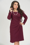 Платье 5013. Бордовый. Плательная ткань