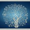 """K-3064 """"Дерево изобилия и достатка в серебре"""" - рисунок на ткани"""