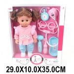 Кукла Лилли-доктор 30 см, звук, 6 аксесс., кор. (634937) LD66009D  Артикул № 157869
