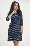 Платье 804. Ромб, тёмно-синий. Трикотаж диор