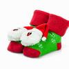 Носки махровые с погремушкой новогодние,размеры от 6 до 2 лет