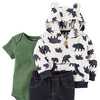 Carter's Baby Boys' 3-24 Months 3 Piece Bear Print Little Jacket Set