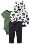 Carter's Baby Boys' 3-24 Months 3 Piece Bear Print Little Jacket Set