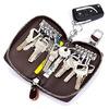 Aladin Unisex Large Leather Key Case Wallet with 12 Hooks & 1 Keychain / Ring