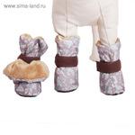 Ботиночки на меху OSSO для маленьких собак, XS (3,5 х 3 х 9 см), микс цветов