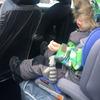 Авто-фартук (защита от детских ног)