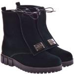 Женские замшевые ботинки на танкетке (байка/экомех/цигейка - на выбор)